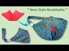 "DIY Face Mask Sewing Tutorial, Breathable with Head Strap | How to Make Face Mask Cloth with Pattern"" sur YouTube"
