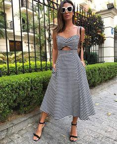 Vestido perfeito, xadrez estampa do momento!!! #verao2018 #mulhereslindasusam #elasusamearrasam #temqueterestilo #lookpefeito @costure