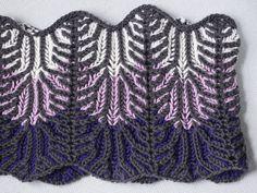Lilac Vines brioche cowl knitting pattern in Ewe Ewe Wooly Worsted yarn