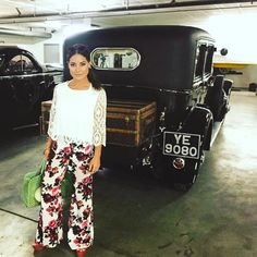 """""""Yes I wore floral flares.  and I was  close to stealing Fred Astaire's LV luggage. """""""