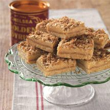 Gooey Caramel Anzac Slice   Yum - this recipe has all my favourite ingredients... coconut, brown sugar, condensed milk, golden syrup and butter!
