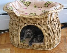 Irresistible cuteness | wicker cat bed