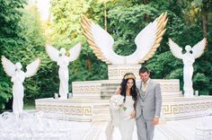 Greek mythology themed wedding
