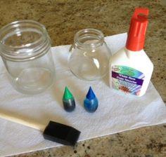 Easy tinted glass jar diy Bottles And Jars, Glass Bottles, Mason Jars, Repurpose, Reuse, Craft Gifts, Diy Gifts, Crafty Craft, Crafting