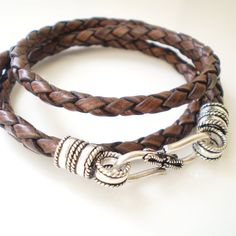 mild obsession with leather wrap bracelets..