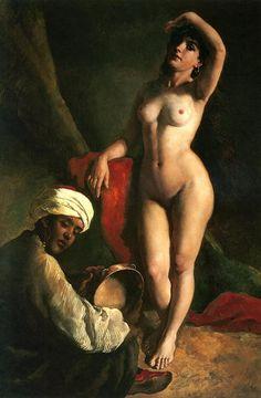 """Oil painting: Portrait of Jaroslava The Artists Daughter Artist: Gyula Tornai """