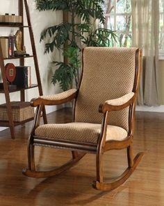 Enjoy some quality time in your family room or nursery room with the Furniture of America Betty Rocking Chair in antique oak finish. Made from quality solid woo...