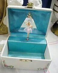 Spinning Ballerina music box/jewelry box