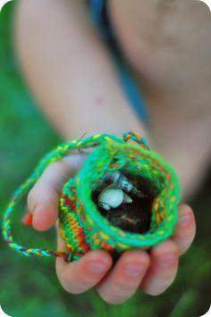 The Sitting Tree: Free Knitting Pattern: Treasure Pouch