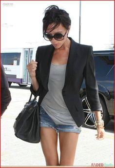Victoria Beckham shorts+blazer