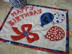 Looking for your next project? You're going to love Happy Birthday Mug Rug by designer 2strings. - via @Craftsy