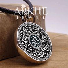 İsimli İhlas Suresi Yazılı Gümüş Kolye - Arkhe Jewel