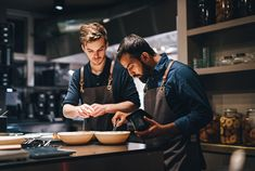 Guys looking great in our apron (anthracite) . H Design, Workwear, Pineapple, Apron, Guys, Cooking, Fine Dining, Kitchen, Work Wear