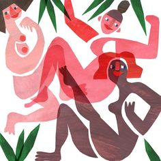 A cut out illustration in celebration of International Women's Day, by Alice Lindstrom