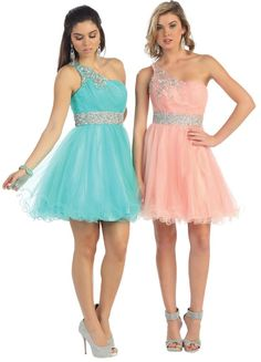 One Shoulder  Homecoming Short Cocktail #Prom Mini Dress
