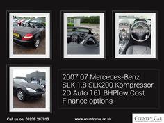 2007 07 MERCEDES-BENZ SLK 1.8 SLK200 KOMPRESSOR 2D AUTO 161 BHPLOW COST FINANCE OPTIONS   For more details call us on 01926 267813