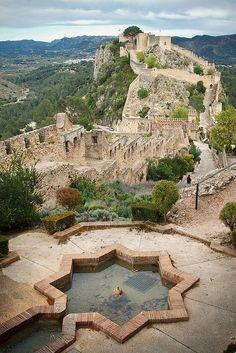 View fromCastillo de Játiva(Xátiva Castle), Valencia province, Spain.