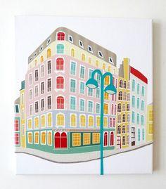 Paris, Latin Quarter - Stitched canvas print from Laura Amiss €60