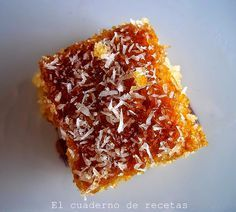 El cuaderno de recetas: Bizcocho Árabe De Coco {Sin Azúcar}