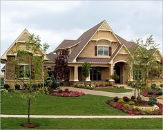 Nice home. Pretty landscaping.