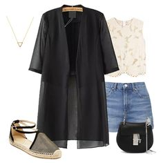 Half Sleeve Double Layels Chiffon Coat-SheIn