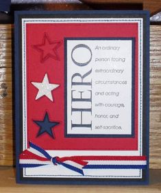 Military card - this is one of the cards I've made :) found it while cruising… Veterans Day Activities, Veterans Day Gifts, Military Crafts, Honor Flight, Patriotic Crafts, Masculine Cards, Scrapbook Cards, Scrapbooking, Creative Cards