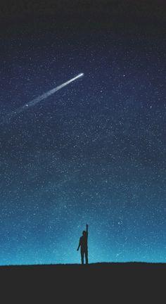 Desktop Wallpaper art night silhouette shooting star starry sky hd for pc & mac, laptop, tablet, mobile phone Night Sky Wallpaper, Wallpaper Space, Star Wallpaper, Galaxy Wallpaper, Wallpaper Backgrounds, Wallpaper Lockscreen, Infinity Wallpaper, Sky Full Of Stars, Sky Art
