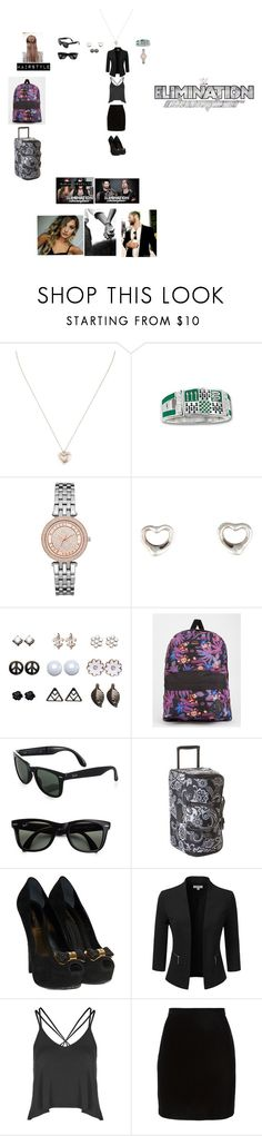 """""""Arriving in Corpus Christi, Texas For Elimination Chamber 2015 (Sarah's Outfit)"""" by wwetnagirl ❤ liked on Polyvore featuring Tiffany & Co., Michael Kors, Wet Seal, Vans, Ray-Ban, Vera Bradley, Louis Vuitton, Doublju, Topshop and Thierry Mugler"""