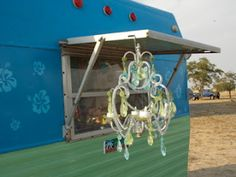 Girl Camping chandeliere