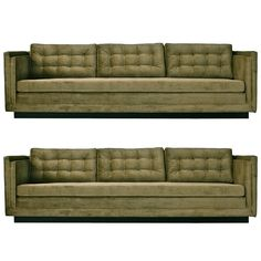 Pair of Paul McCobb Sofas for Directional | From a unique collection of antique and modern sofas at https://www.1stdibs.com/furniture/seating/sofas/