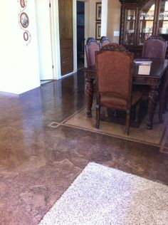 The best page for DIY brown paper bag flooring. She has used them in several rooms with several techniques and clarifies them here in detail.
