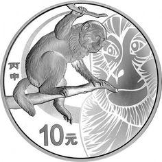 10 Yuan Silber Jahr des Affen PP