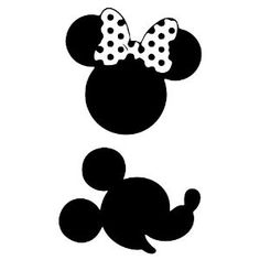 mickey and minnie silhouettes | Mickey and Minnie Mouse Wall Decal Set | Silhouette