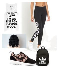 """school"" by meagan-gilstrap on Polyvore featuring adidas Originals, NIKE, women's clothing, women, female, woman, misses and juniors"