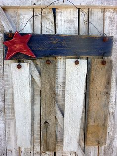 Reclaimed Wood Americana Flag Door/Wall Hanger. $30.00, via Etsy.