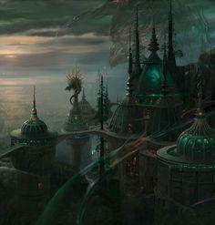 25ddf55f1efd90298866d53e72aeeae3--fantasy-places-fantasy-art.jpg (736×772)