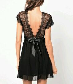 Black Color V-Neck Backless Sleeveless Casual Slimming Lace Splice Dress | Fashion Uk Shop