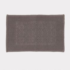 One of my favorite discoveries at WorldMarket.com: Frost Gray Woven Bath Mat - $12.99