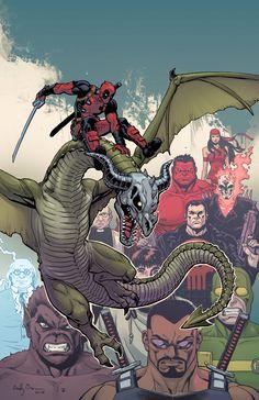 Deadpool, Dracula's Gauntlet #6 by ReillyBrown on @DeviantArt