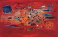 Zao Wou-Ki (Zhao Wuji, French/Chinese, 1920-2013), Foudre, 1955