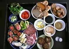 Beautiful yet simple presentation - Lunch Platter.