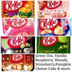 Flavored Kit Kat TRY KIT KAT IN DIFFERENT FLAVORS – PUMPKIN, CHEESE CAKE, WASABI, GREEN TEA, RASPBERRY, STRAWBERRY, OR MORE