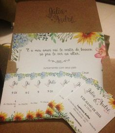Casamento Júlia e André – Papelaria Personalizada | Cereja Design Julia, Bullet Journal, Design, Custom Stencils, Personalized Stationery, Wedding Invitation, Invitations, Day Planners, Design Comics