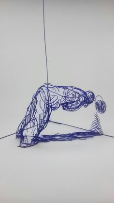 Olaf Brzeski, The Fall of the Man I Don't Like, painted steel, 2012