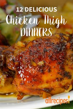 Chicken thighs are cheaper, tastier, and much easier to cook than chicken breasts. They're extremely versatile, and are delicious in currie. Tasty Chicken Thigh Recipe, Chicken Thigh Fillet Recipes, Chicken Thights Recipes, Oven Chicken Recipes, Recipes With Chicken Thighs, Healthy Chicken Thigh Recipes, Chicken Thigh Marinade, Chicken Marinades, Chicken Thighs Dinner