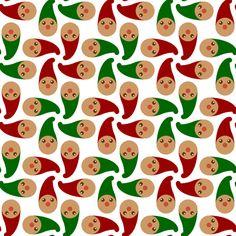 gnomes 4x4 W fabric by sef on Spoonflower - custom fabric