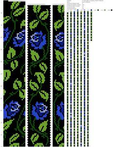 18-Синие цветы (на черном)_Ринатта Набулина