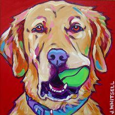 Custom pet portrait - Golden Retriever