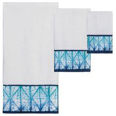 Creative Bath Products Shibori Bath Towel Set - Set of 3 - TP1233BHFIND