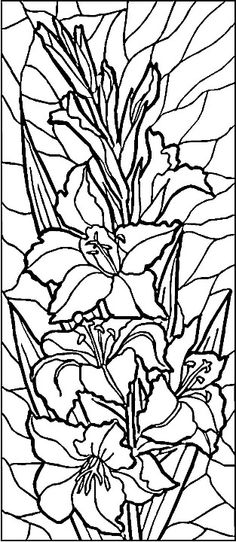 Stained Glass Lilies Coloring Page From Category Select 28148 Printable Crafts Of Cartoons Nature Animals Bible And Many More
